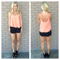 Coral Ouvrir Back Tank