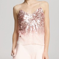 HALSTON HERITAGE Top - Embellished Chiffon | Bloomingdales's
