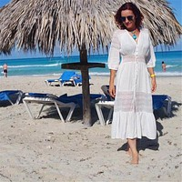 Cotton Beach Cover up Kaftan