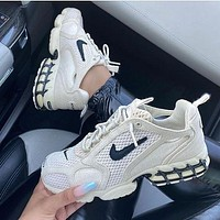 Nike R1 Stussy Hot Sale Men's and Women's Color Block Casual Shoes Sneakers