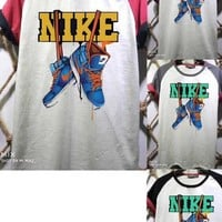 DCCK2 1450 nike shoes Printed multi-color matching t-shirts for both men and women