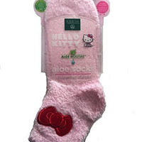 Earth Therapeutics HELLO KITTY Aloe Socks (Pink)