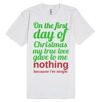 First day of christmas-Unisex White T-Shirt