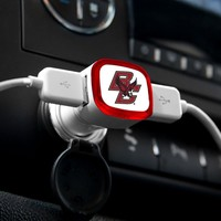 NCAA Boston College Eagles Car Charger, White