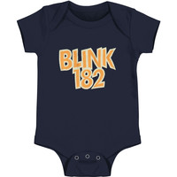 Blink 182 Boys' Classic Bunny Bodysuit Navy