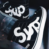 Vans Sk8-hi x Supreme Luminous High Top Sneaker Flats Shoes Canvas Sport Shoes