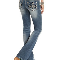 Miss Me Jeans, Bootcut Medium-Wash Embroidered Crosses - Jeans - Women - Macy's