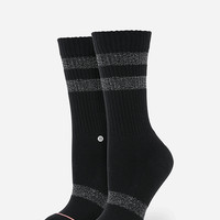 Stance Blackboard Classic Crew Womens Socks Black One Size For Women 26636010001