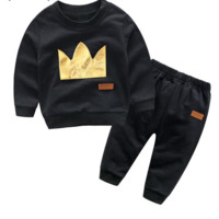 Casual Toddler Baby Long Sleeve Sweatshirt+Pants 2Pcs Sport Suit
