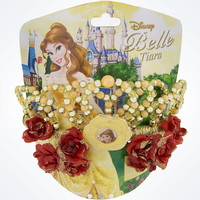 disney parks beauty and the beast belle crown tiara sparkle new with card