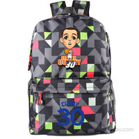 Golden State Warriors MVP Stephen Curry  Thompson student girl boy basketball star cartoon printing  School Bag  Name celebs