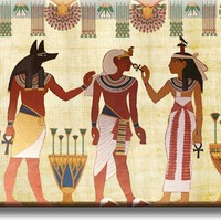 Ancient Egyptian Scripture Art Picture on Acrylic , Wall Art Décor, Ready to Hang