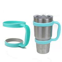 Portable Plastic Blue Mug Water Bottle Cup Handle for YETI 30 Ounce Cup Holder Travel Rambler Coffee Tumbler Drinkware