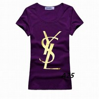 YSL t shirt YSL tshirt YSL short round collar T woman S-XL Yves Saint Laurent t shirt