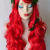 Spring Special // Poison Ivy costume wig. Red wig. Long curly red hair wig. Cosplay wig. Costume wig.
