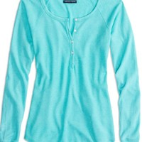 AEO Women's Factory Long Sleeved Henley Thermal