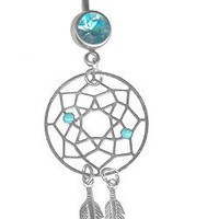Carefree Lightweight Dream Catcher Belly Ring-14g 3/8 Gifts for Women