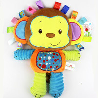 Free shipping Plush baby toys appease infants teddy appease towel grasping rattles, BB, multi-functional brinquedos para bebe
