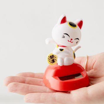 Solar Lucky Cat Figure | Urban Outfitters