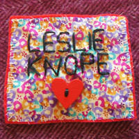 Leslie Knope patch. Parks and Recreation patch. Leslie Knope Parks and Recreation patch with heart button. Feminist patch. Leslie Knope.