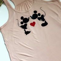 Mickey and Minnie - Disney Shirt -  Ruffles with Love - Graphic Tee - RWL