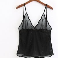 The chiffon lingerie tops are a hit for women's wear