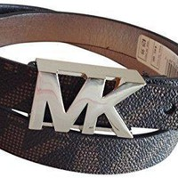 Michael Kors Signature Logo Belt Brown Medium