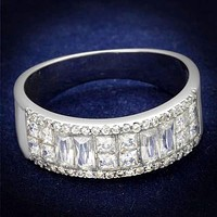 5TCW Russian Lab Diamond Wedding Band