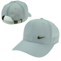 White Nike Hook Embroidered Adjustable Outdoor Baseball Cap Hats