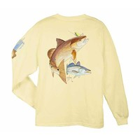 Guy Harvey Men's Redfish Seatrout Long Sleeve T-Shirt