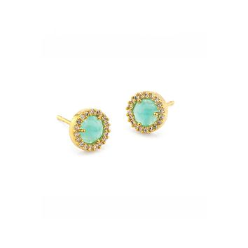 Small Pave Glass Stud Earrings