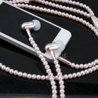 Pearl Earphone Necklace