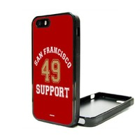 Apple iPhone 4 4G 4S Case Cover Skin San Francisco 49ers Case Fan Custom Niner 49 Faithful Cali SF Empire Nation Kaepernick Gore Bouldin Willis Davis Football BLACK RUBBER SILICONE Vintage Hipster Dictionary Art Print Urban Inspirational Teen Gift Idea Acc