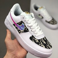 Dior x Nike Air Force 1 AF1 stylish casual comfortable sneakers shoes