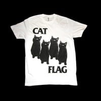 $23.99 Black Flag CAT FLAG T Shirt by SleazySeagull on Etsy