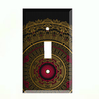 Light Switch Cover - Light Switch Plate Mandala