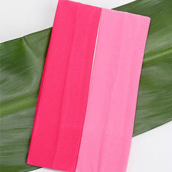 2 Piece Pink Yoga Headband
