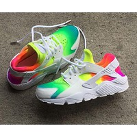 Nike Air Huarache Multicolor Popular Unisex Casual Sport Running Shoes Sneakers White I