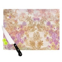 "Marianna Tankelevich ""Retro Summer"" Yellow Pink Cutting Board"