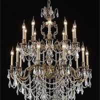 Rowland - Large Hanging Fixture (20 Light Traditional Grand Crystal Chandelier) - 8092G36