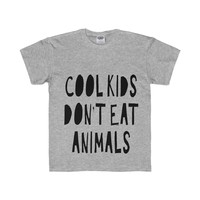 Tristin Original Cool Kids Don't Eat Animals Youth Regular Fit Tee