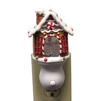 Christmas House Swirl Night Light Gingerbread Electric - 160157