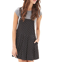 FOREVER 21 Polka Dot Overall Dress
