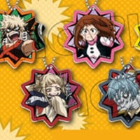 "Boku No Hero Academia Animate ""Charaby"" Official Art Acrylic Keychain Collection INDIVIDUALS"
