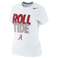 Alabama Crimson Tide Nike Women's Local Slim Fit T-Shirt – White