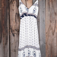 Cupshe Kiss Me Slowly Paisley Slip Plunging Dress