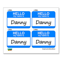 Danny Hello My Name Is - Sheet of 4 Stickers