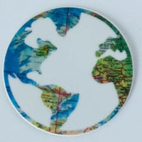 Travel Stickers, Stickers, Laptop Stickers, Globe Sticker, World Map Decal, Small Gifts, Travel Gifts, Gifts for Travelers, World Globe, Map