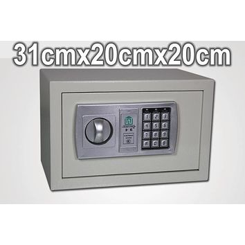 31x20x20cm Family Office Steel wall of the small mini single door home electronic lock strongarmer safe deposit box