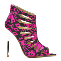 SUMMER DANCE LASERCUT TRIBAL BOOTIE - PINK
